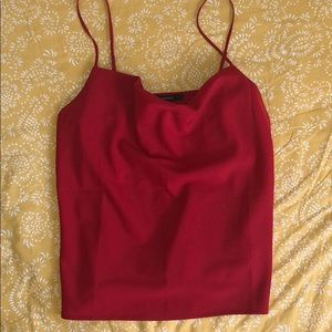 Red cowl top, like new!